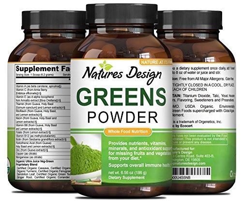 Superfood Greens Powder Supplement Immunity