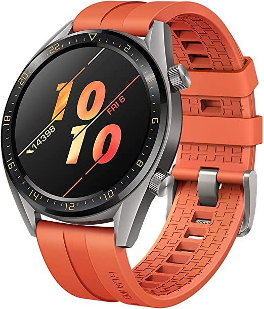 SUNG-LL Huawei Watch GT 2019 Bluetooth SmartWatch,Ultra-Thin Longer Lasting Battery Life, Waterproof, Compatible with iPhone and Android -Titanium ...