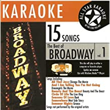 ASK-1551 Broadway Karaoke Vol 1. A Mix of Your Favorite Broadway Songs in Karaoke in the Style of the Broadway Production that Made Them Famous