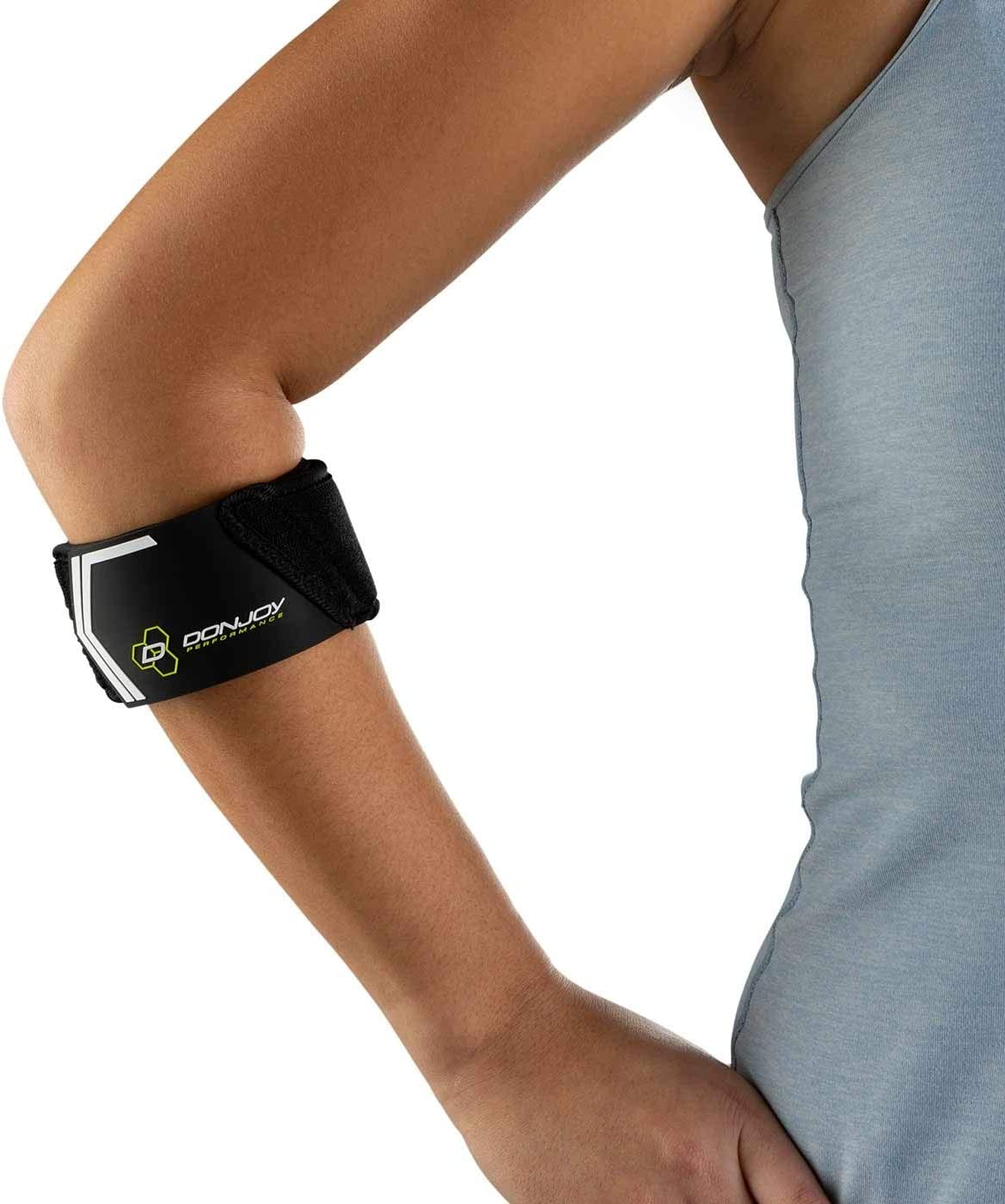 Black Tendonitis Pain Relief Compression Support Brace DonJoy Performance WEBTECH Tennis Elbow Strap Tennis Elbow and Golfers Elbow Large//X-Large