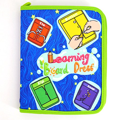 Learning Button - Dreamer Toddlers Early Learning Basic Life Skill Toy Montessori Learn to Dress Book Educational Toys for Kids - Zip, Snap, Button, Buckle,Lace and Tie