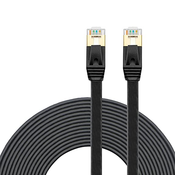 Amazon.com: Cat 7 Ethernet Cable 65Ft Black, Wintter Cat7 RJ45 ...