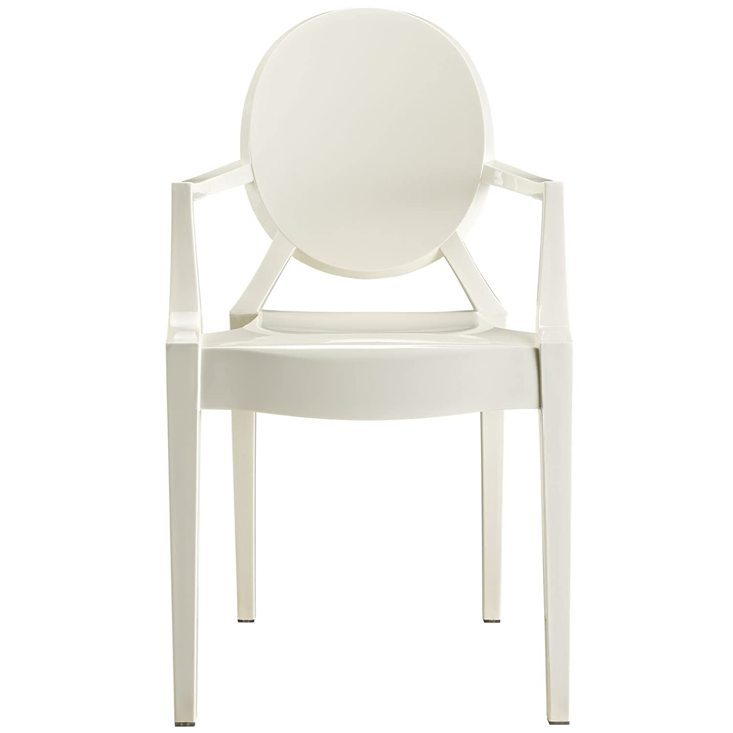 Beautiful Amazon.com   Modway Casper Modern Acrylic Dining Armchair In White   Chairs