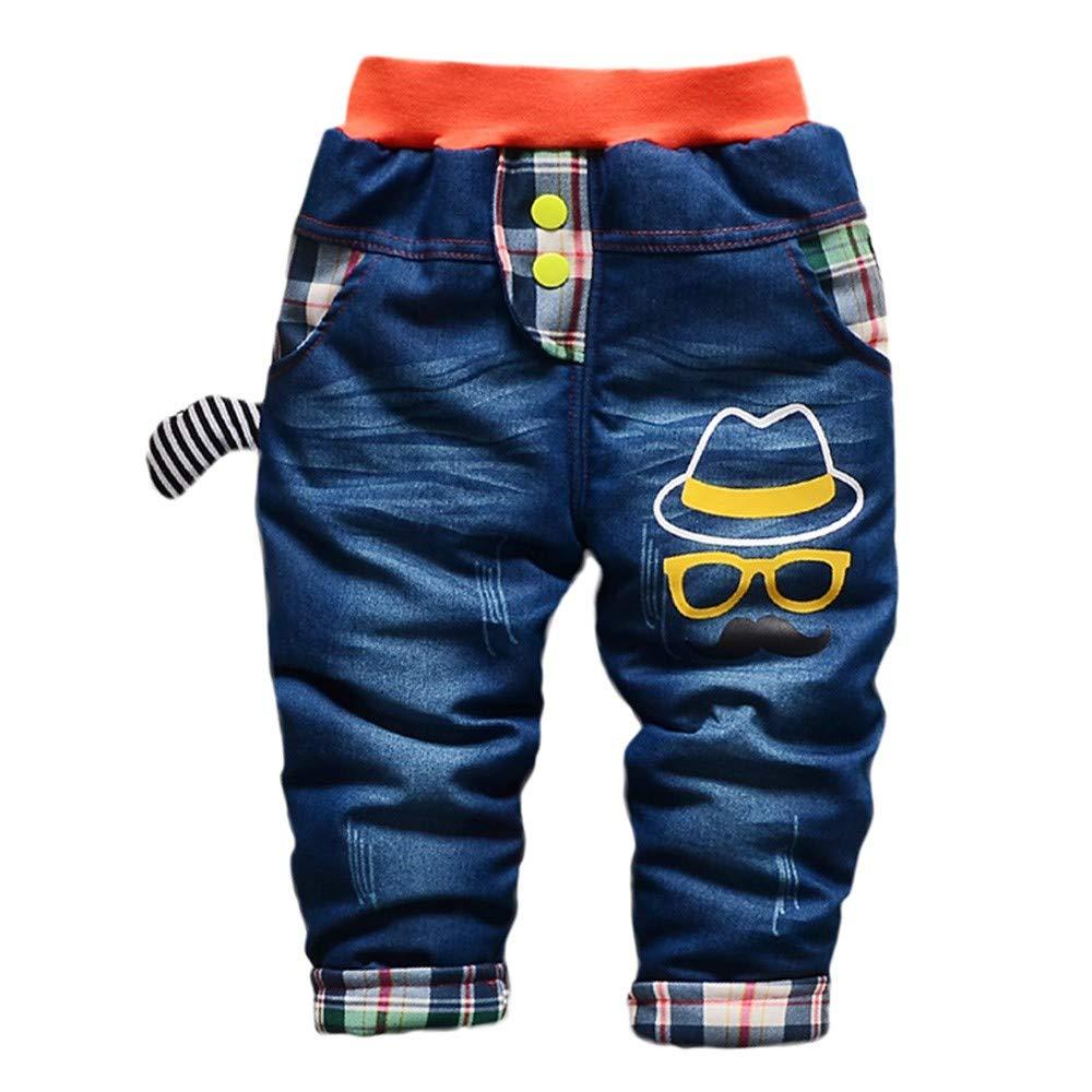 OHQ Unisex Baby Jeans Hose Comfort Jogginghose Sweat-Hose Jeans-Optik Denim Overall mit Hosentr/äger Kinder Baumwolle Latzhose