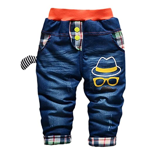 2d431a7f4d45 Amazon.com  Infant Baby Toddler Girls Boys Fall Winter Jeans Pants ...