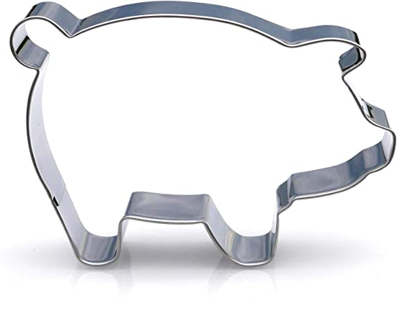 Amazon.com: Big Pig Cookie cutter- Acero Inoxidable: Kitchen ...