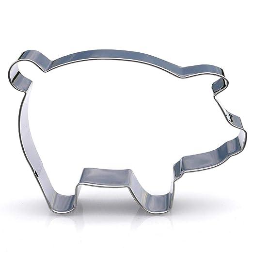 Big Pig Cookie cutter- acero inoxidable: Amazon.es: Hogar