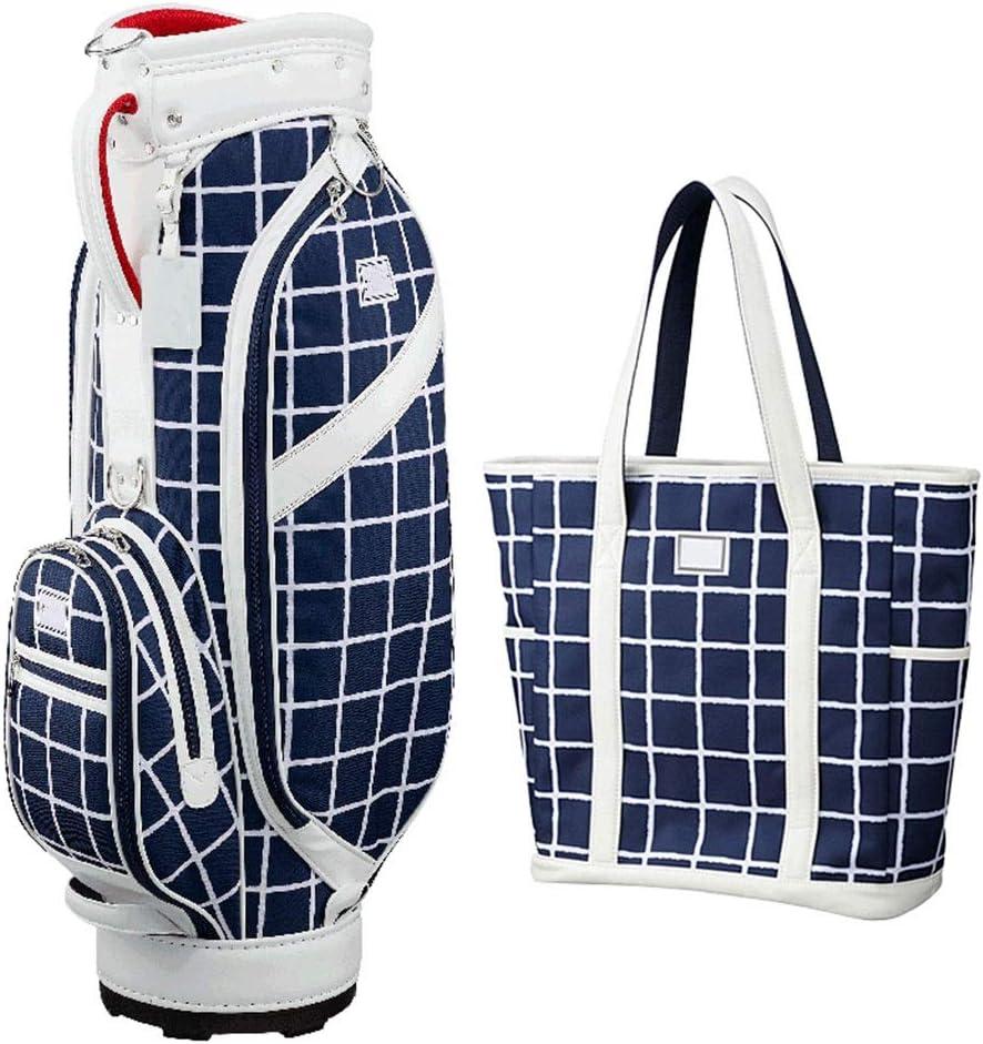 QCRLB ゴルフバッグ、ツーピースハンドバッグ、軽量で持ち運び可能、防水素材、マルチカラーオプション (Color : 青) 青