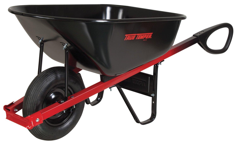 Amazon.com : Ames True Temper C6TC14 6 Cubic Foot Total Control Handle  Steel Tray Wheelbarrow : Garden U0026 Outdoor