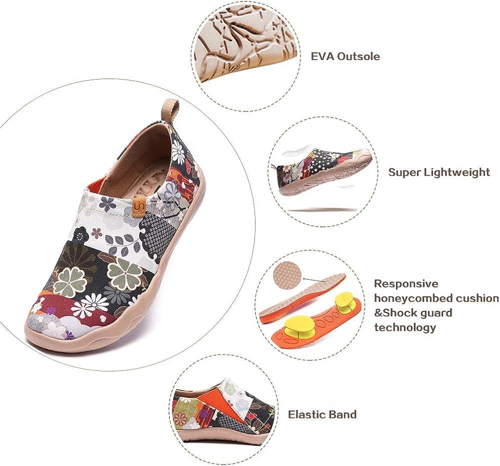 Regali di Pesce Rosso UIN Scarpe Casual Giapponesi da Donna Mocassini Piatti Dipinti con Vernice Antiscivolo