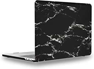 UESWILL MacBook Pro 13 inch Case 2020 2019 2018 2017 2016 Release A2289 A2251 A2159 A1989 A1706 A1708, Marble Pattern Hard Case for MacBook Pro 13 inch, 2/4 Thunderbolt 3 Ports (USB-C), Black/White