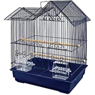 You & Me Parakeet Ranch House Cage, Navy, Blue