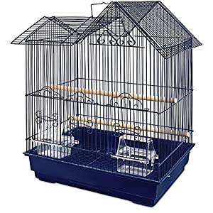10. You & Me Parakeet Ranch House Cage, Navy