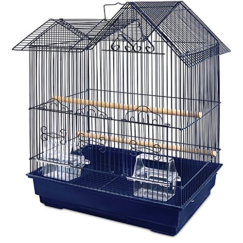 You & Me Parakeet Ranch House Cage, Navy, Blue by You&Me