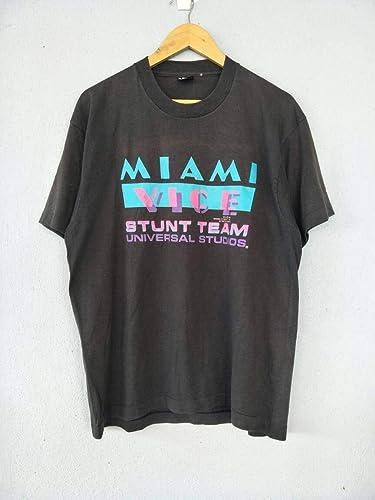 New MIAMI VICE Retro TV Series Men/'s Black Long Sleeve T-Shirt Size S to 3XL