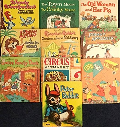 Pogo Pig (Vintage Set of Ten Whitman Tell-A-Tale Hard Covers (Woody Wo-odpecker's Pogo Stick Adventures; The Town Mouse and the Country Mouse; The Old Woman and Her Pig; Linus a Smile For Grouse; Ricochet Rabbit Showdown at Gopher Gulch Bakery; Johnny Appleseed; Swiss Family Duck; Circus Alphabet; One Two Three; Peter Rabbit))