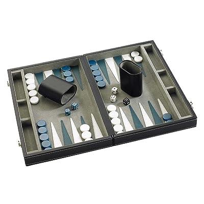Gibsons G387 - Backgammon en Caja de Piel sintética (28 cm): Juguetes y juegos