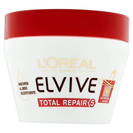 l Oréal Paris Elvive Total Repair 5 Maschera Ricostituente per Capelli  Sciupati - 300 ml 52831bf689f7