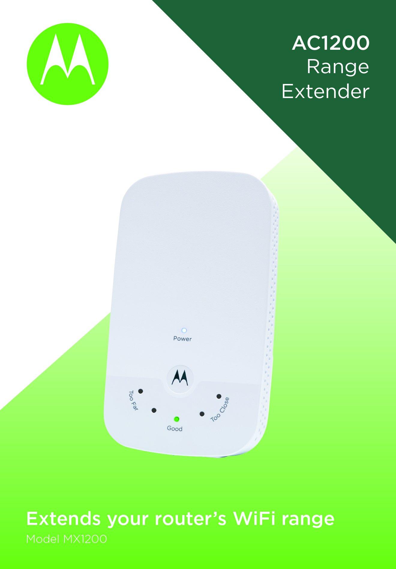 MOTOROLA AC1200 WiFi Range Extender with Gigabit Ethernet, Dual Band, Model MX1200 by Motorola (Image #4)