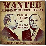 Al Capone Wanted Poster by Vintage Apple Collection Canvas Art Wall Picture, Museum Wrapped with Black Sides, 12 x 12 inches