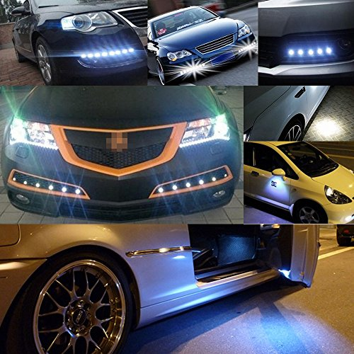 6Pcs 18mm Eagle Eye LED 9W DRL Fog Light Car Motorcycle Light Daytime Running High Power Clearance Marker Lights Lamp Blue