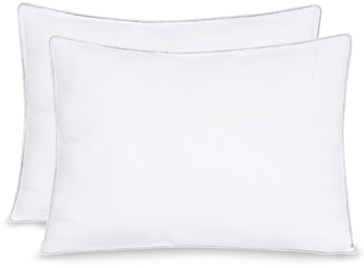"Equinox 2-Pack Bed Pillows - 20"" x 26"" - 900GSM Ultra Soft Sand Washed Cover, with Lofty Microfiber Filling"