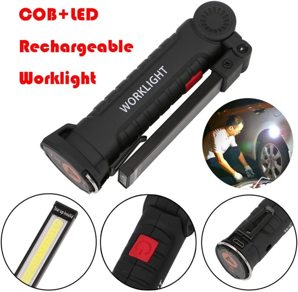 Worklight magnetica lampada da ispezione ricaricabile torcia LED COB da lavoro Dxlta senza fili portatile