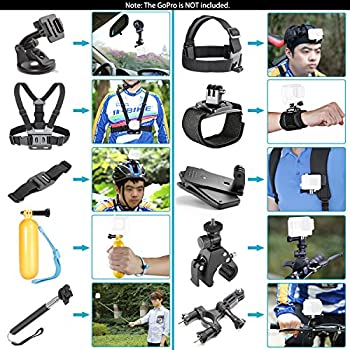 Neewer 44-in-1 Action Camera Accessory Kit, Compatible With Gopro Hero 45 Session, Hero 1233+456, Sj40005000, Nikon & Sony Sports Dv In Swimming Rowing Climbing Bike Riding Camping & More 1