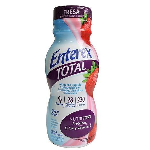 Amazon.com: Enterex Original Nutrition Shake, Milk Strawberry, 8 ounces, 6 count: Health & Personal Care