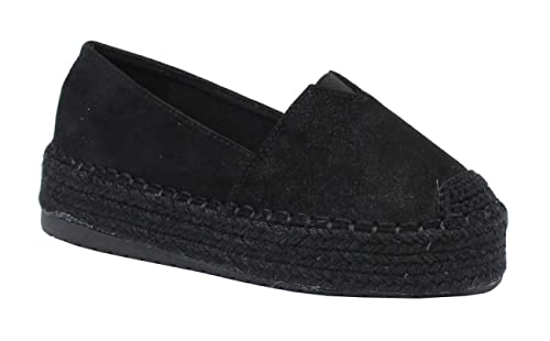 8d1e67be90451 by Shoes - Espadrille avec Plateforme Style Suédine - Femme  Amazon.fr   Chaussures et Sacs