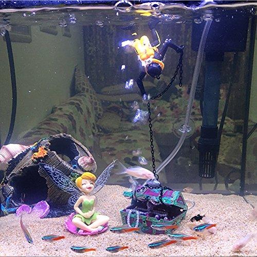 Bestgle new style action aquarium ornament undersea for Fish tank treasure chest