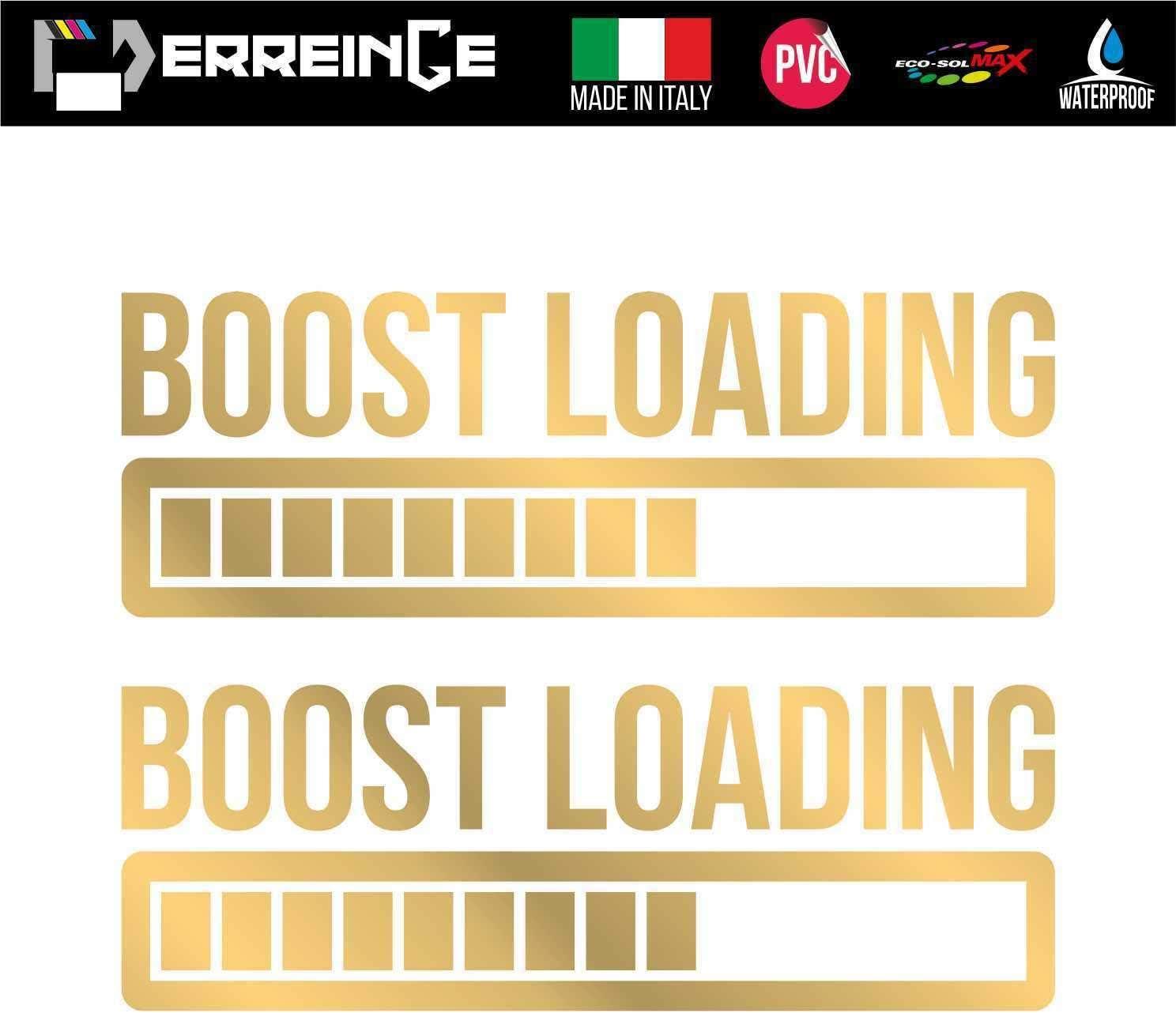 Adesivo Decal Decalcolmania Vinile Murale Laptop Auto Moto Casco Camper Boost Loading JDM DUB Tuning Racing ERREINGE x2 STICKER PRESPAZIATO ARANCIO FLUO 20cm
