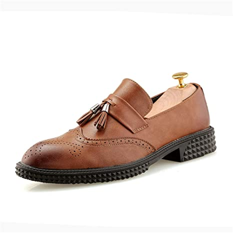 9fa336e0e2ec3 Amazon.com : Gobling Men's Vintage Work Shoes, Fringed Cut Flowers ...