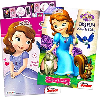 - Amazon.com: Disney Sofia The First Coloring And Activity Book Set (2 Books  ~ 96 Pgs Each): Toys & Games