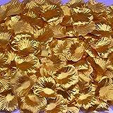 1000PCS Silk Rose Petal Flower Confetti Engagement Celebration Table Scaters Bridal Wedding Decoration (Gold)