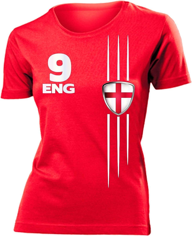 England Motive Fanartikel Fussball Shirt Grill Sch/ürze Tasse Becher Turnbeutel Kinder Damen Frauen M/änner Herren Kids
