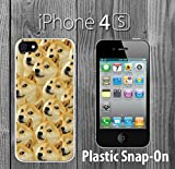 Mr Doge MEME Custom made Case/Cover/skin FOR iPhone 4/4s -White- Plastic Snap On Case ( Ship From CA)