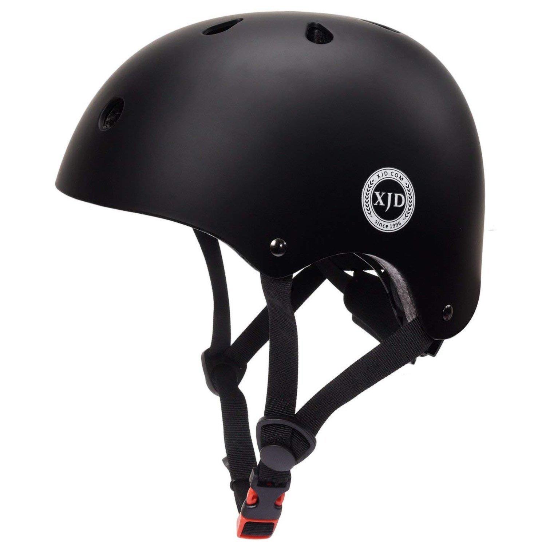 XJD Adjustable Toddler Kids Cycling Helmet CPSC ASTM Certified, Impact Resistance Ventilation for Multi-Sports, Roller Bicycle BMX Bike Skateboard Sport Helmet (Black)