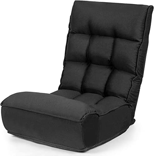 Cheap Giantex Folding Floor Gaming Chair Sleeper 4-Position Adjustable living room chair for sale