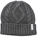 Perry Ellis Men's Cable Knit Watch Cap, Charcoal, One Size
