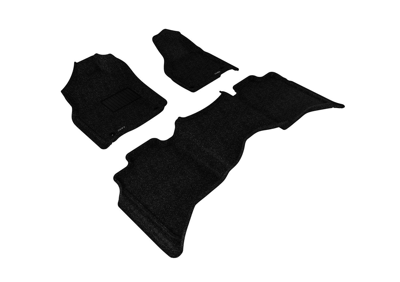 3D MAXpider L1DG02002201 Custom Fit Classic Series Floor Mats Gray Complete Set For Dodge Ram 15//25//3500 Crew Cab Models