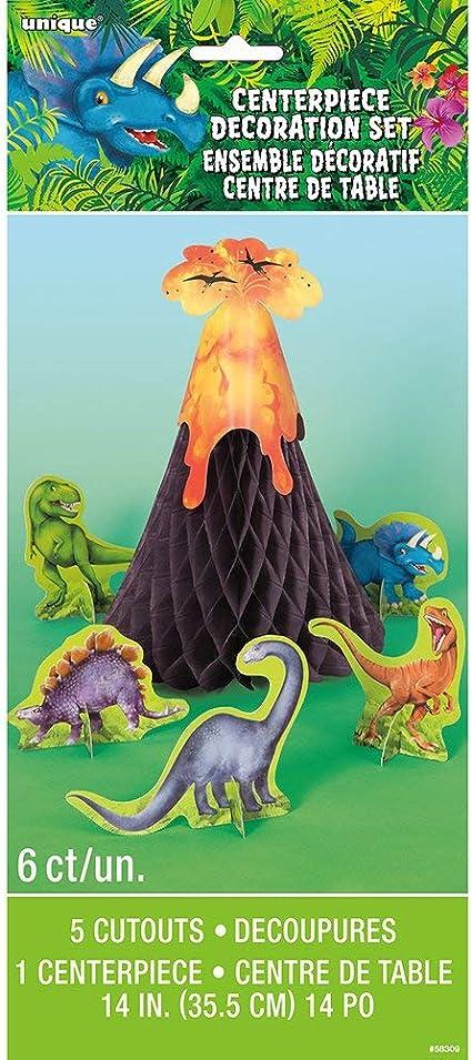 """Dinosaures volcan Centre De Table 13/"""" X 17/"""" Garçons Fête D/'Anniversaire Décoration de Table"""