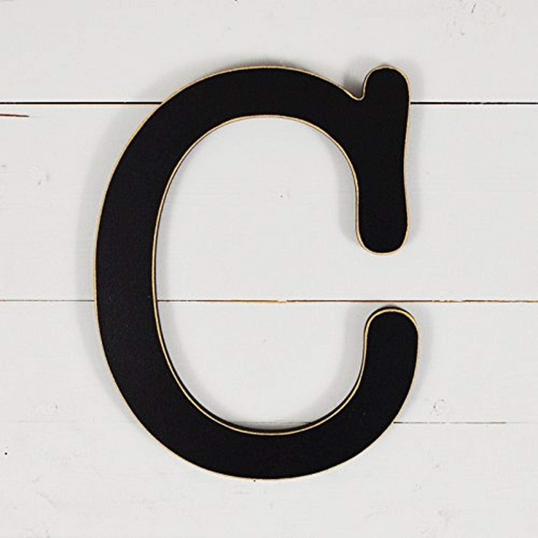 """UNFINISHEDWOODCO 11.5"""" Typewriter Wall Decor Letter C-Black"""