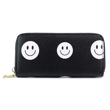 48a0aa7dd086 Halfbye Women's RFID Blocking Leather Long Bifold Wallet Clutch Zip ...