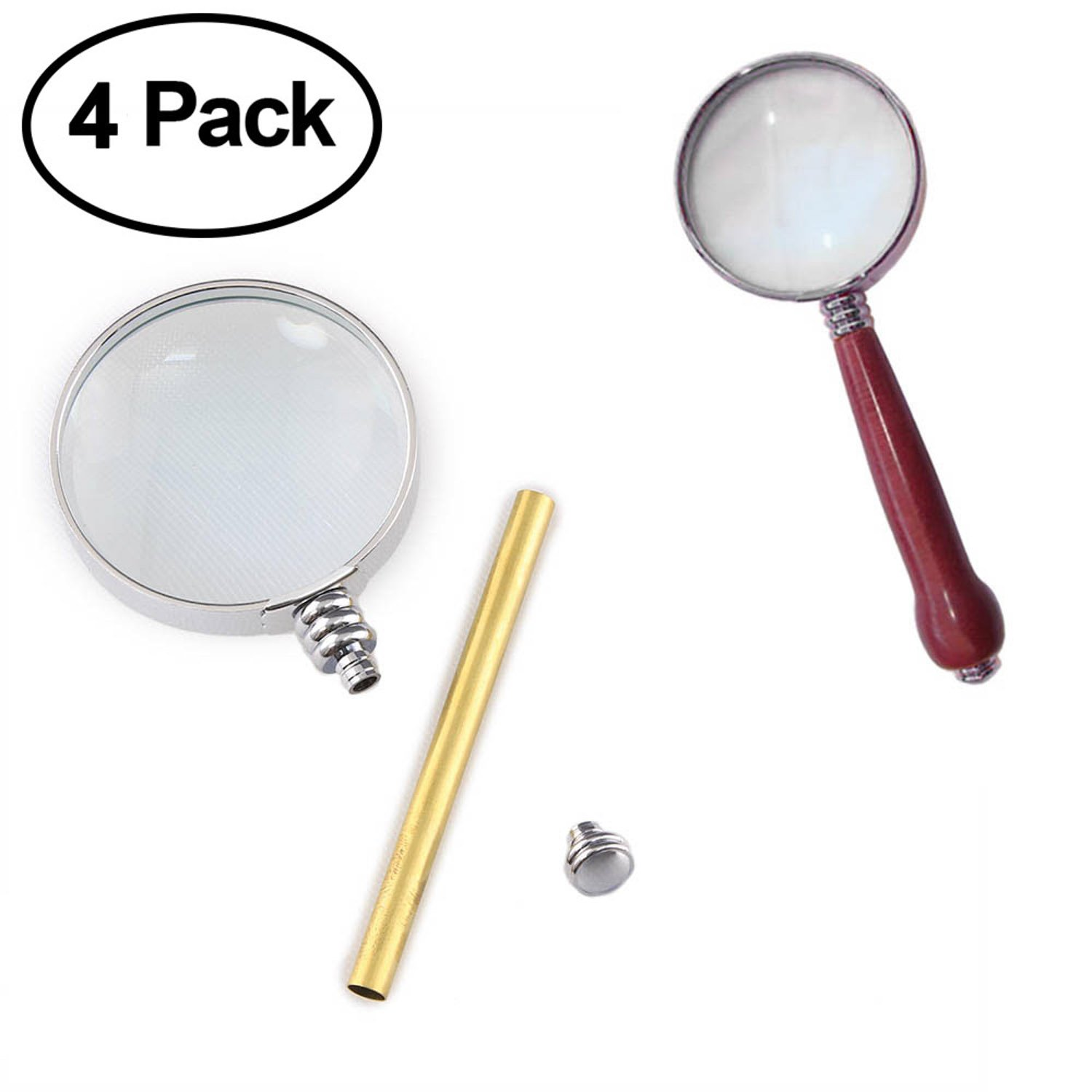 Magnifier Project Kit Chrome 4 Pack Legacy Woodturning