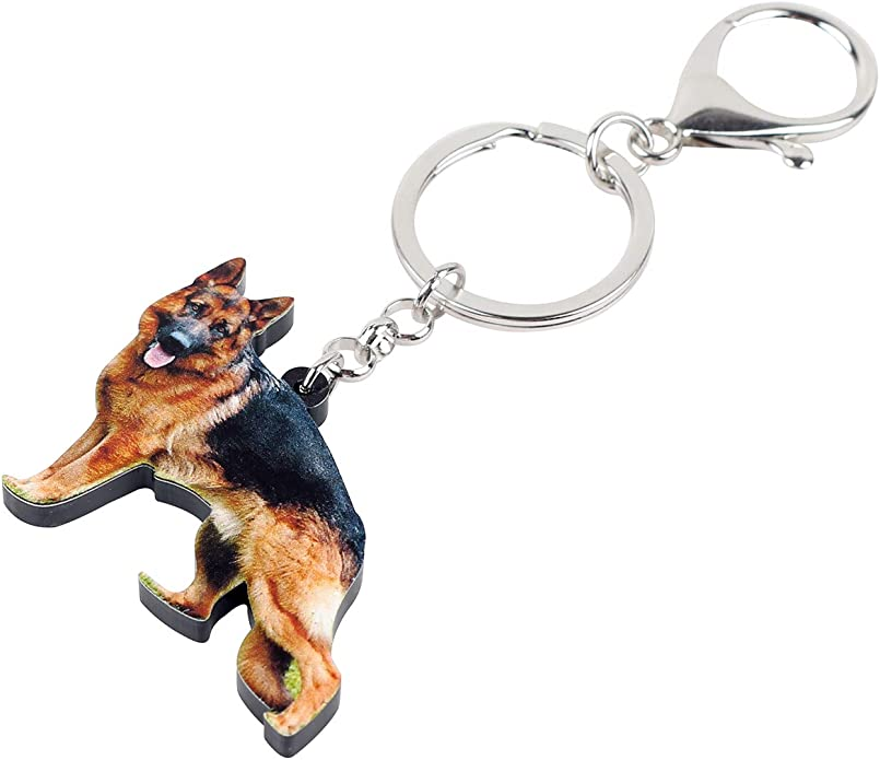 Blind Bag Dog Keychain Key Chain Ring German Shepherd Monogram Puppies NEW