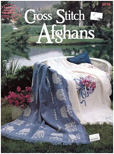 Needlework Booklets - Cross Stitch Afghans - American School of Needlework Booklet 3516
