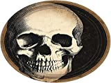 Amscan Creepy Halloween Boneyard Skull Disposable Round Luncheon Paper Plates 9'' Pack 60 Party Supplies , 360 Pieces