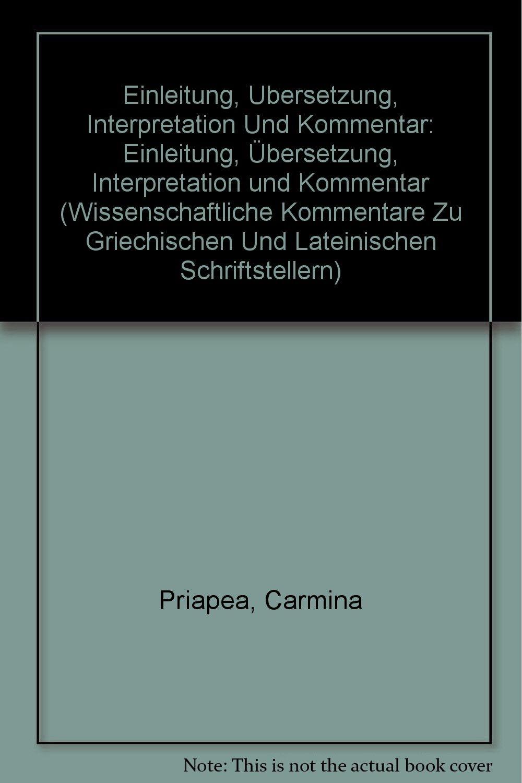 Carmina Priapea Einleitung übersetzung Interpretation Und