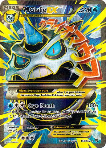 Pokemon Mega Glalie Ex 156 162 Xy Breakthrough